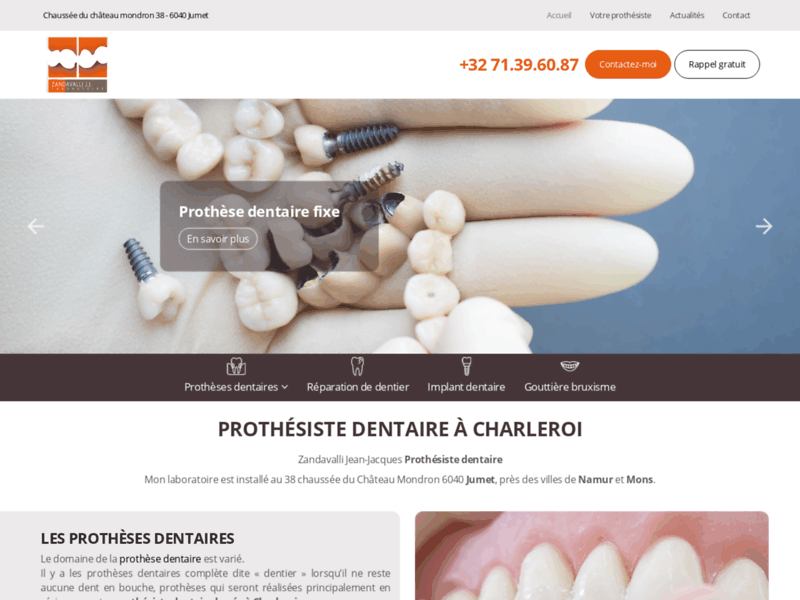 Prothèse dentaire stellite Charleroi