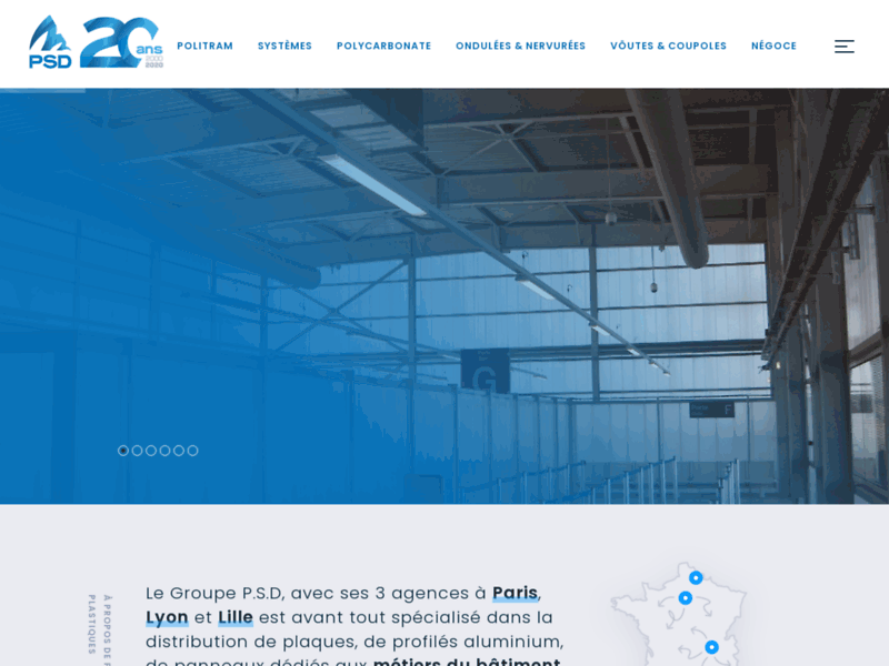PSD Plastiques: toiture en polycarbonate alvéolaire