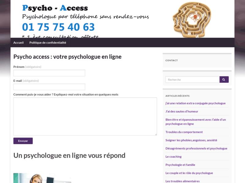 Psychologue téléphone