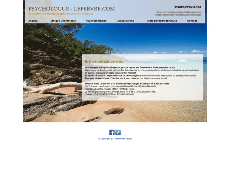 Laurent Lefebvre, psychologue à Toulon