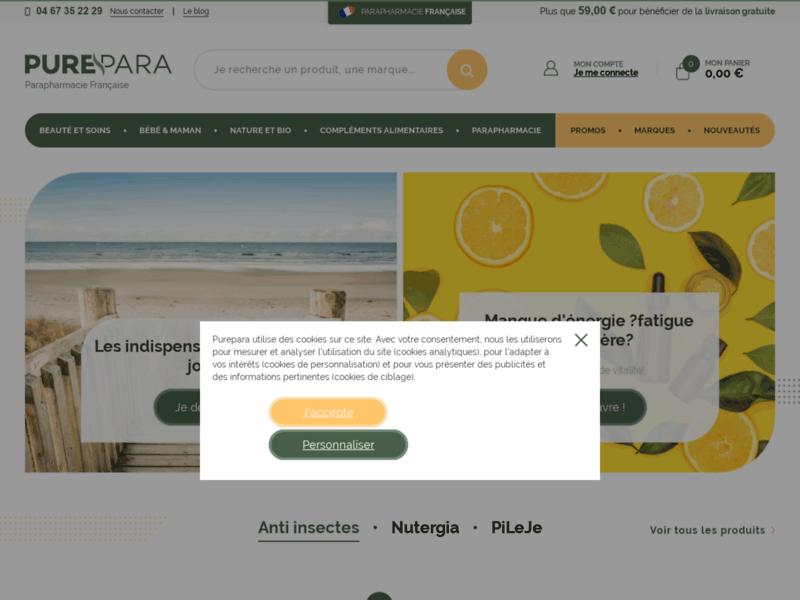 Parapharmacie en ligne à prix discount : PurePara