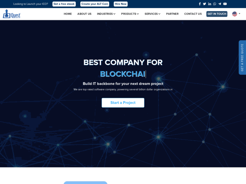 Website's screenshot : blockchain development company