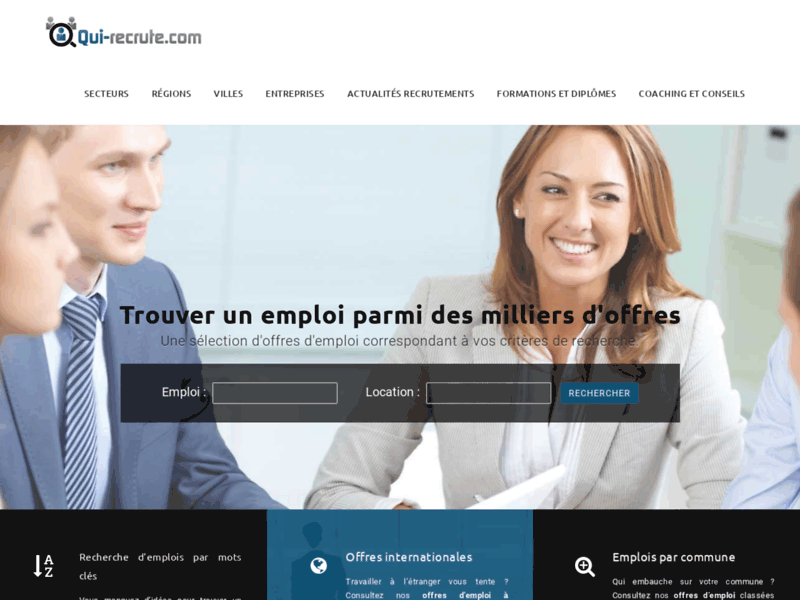 Qui-recrute : le site emploi pour toute la France