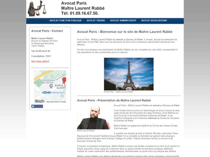 Maître Laurent Rabbé, avocat droit du travail