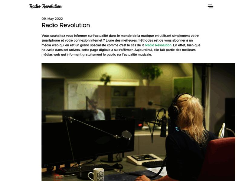 Radio Revolution, webradio clubbing