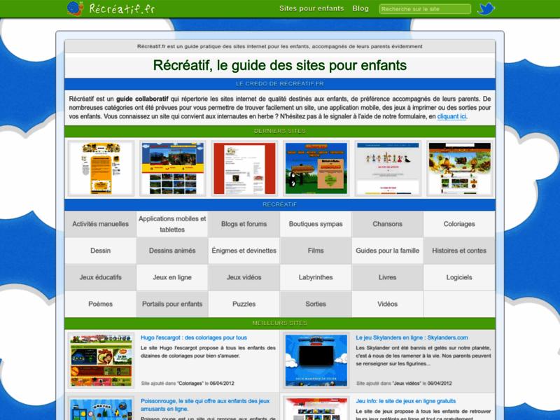 Récréatif - Annuaire web pour les enfants