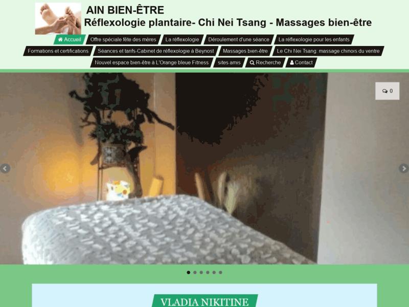 Vladia Nikitine, Chi Nei Tsang, réflexologie
