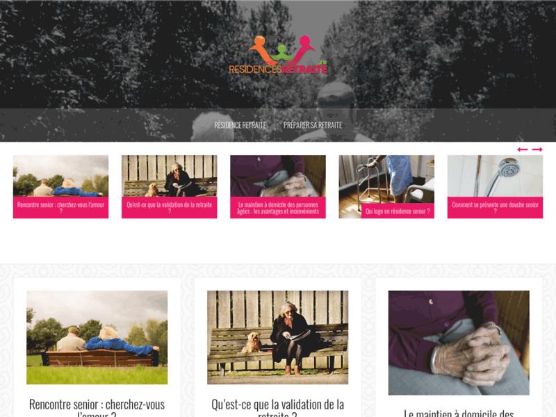 Résidences Retraite : admission en ligne pour maison de retraite