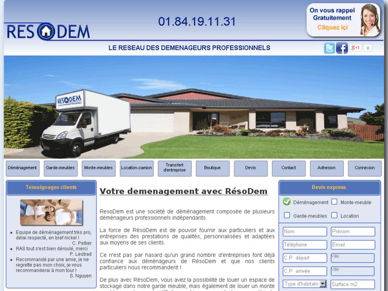 Devis Déménagement - déménageurs professionnels | Société RésoDem
