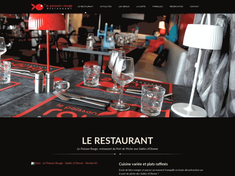 Restaurant Sables d'Olonne Le Poisson Rouge