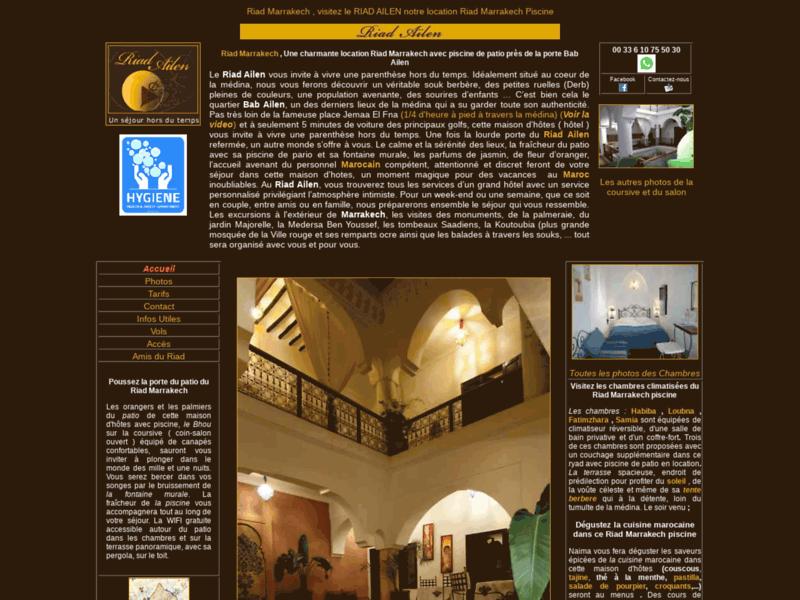 Riad Ailen : Location riad à Marrakech avec piscine