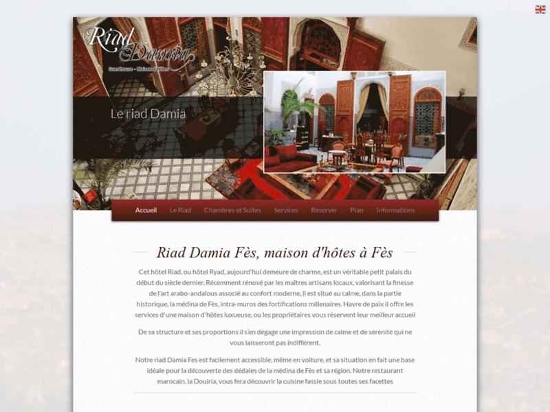 Location Riad Damia à Fès au Maroc