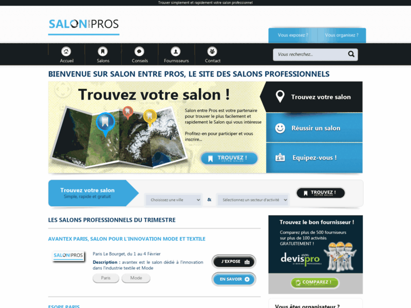 Salon entre pros – salon professionnels France