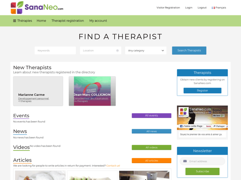 SanaNeo, 1er portail global des médecines alternatives