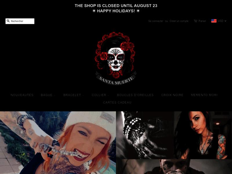 Santa Muerte : des bijoux rock de qualité pour homme