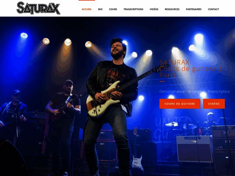 Saturax - Professeur de guitare à Paris