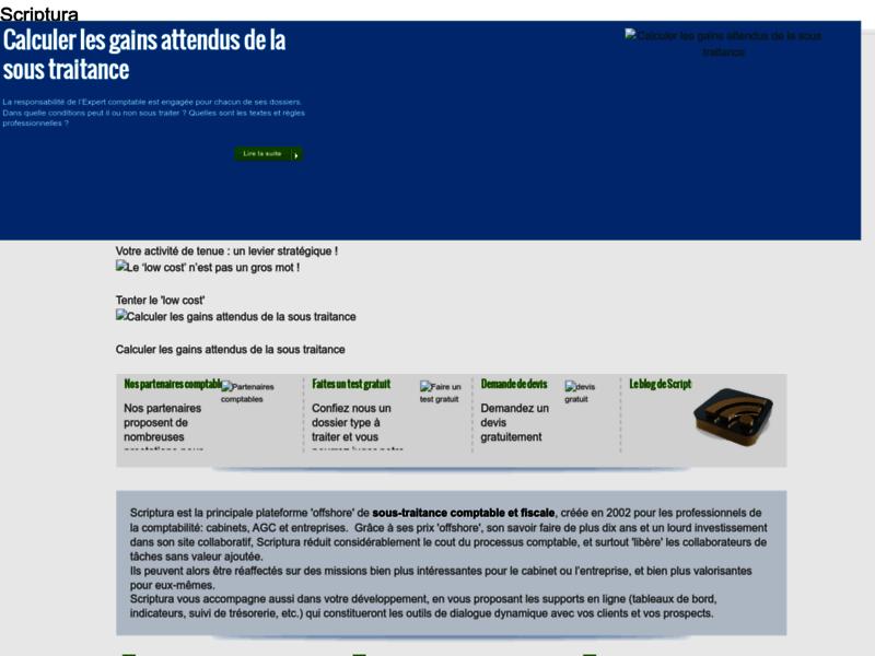 Externalisation comptabilité - www.scriptura.biz