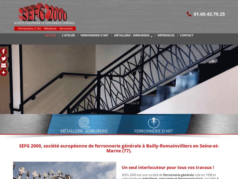 Portails coulissant et rampe escalier fer forgé Seine et Marne - SEFG2000