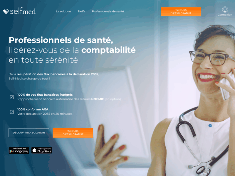 Screenshot du site : Self-Med comptabilité