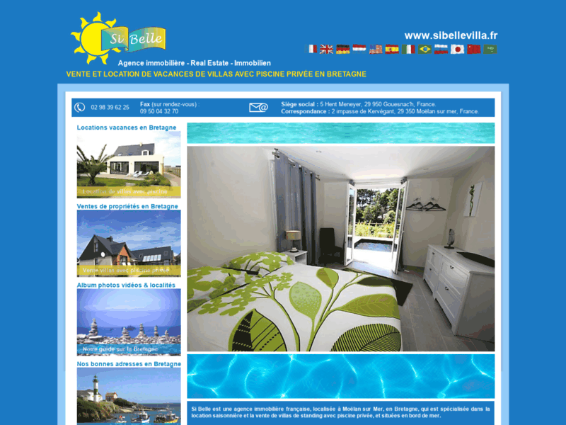 Location villas piscine Bretagne : Si Belle