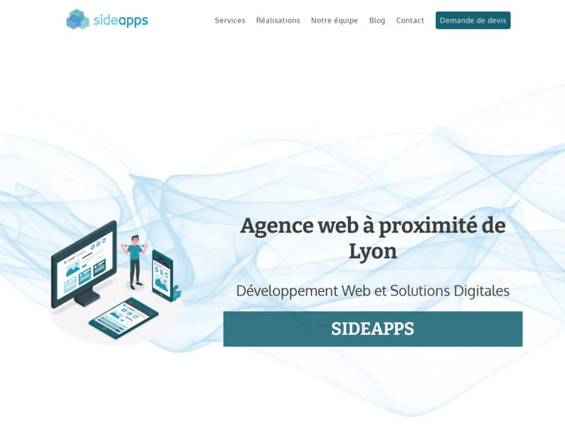 Screenshot du site : Sideapps - Solutions Digitales