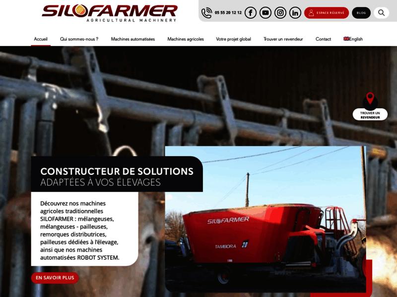Silofarmer machine agricole pour élevage