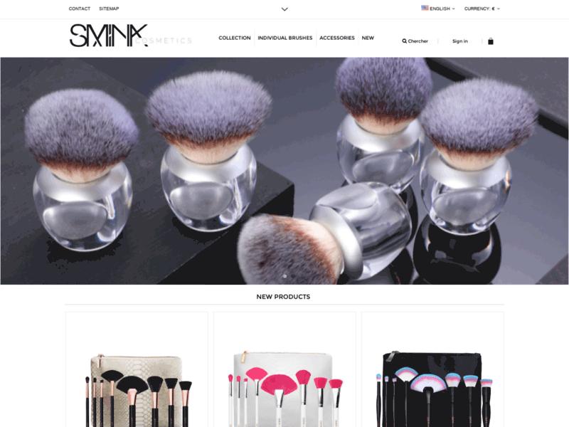 SMINK cosmetics, site maquillage pas cher