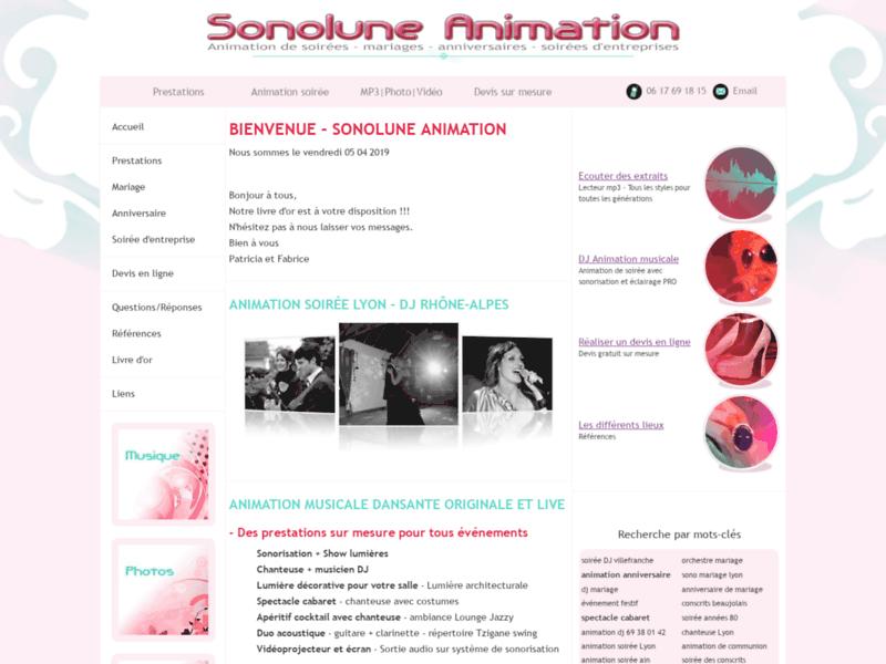 Sonolune Animation,  animations musicales en Rhône-Alpes