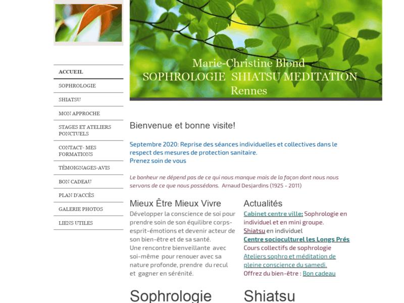 Sophrologie shiatsu Rennes