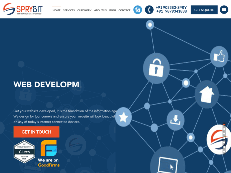 Website's screenshot : SpryBit Softlabs