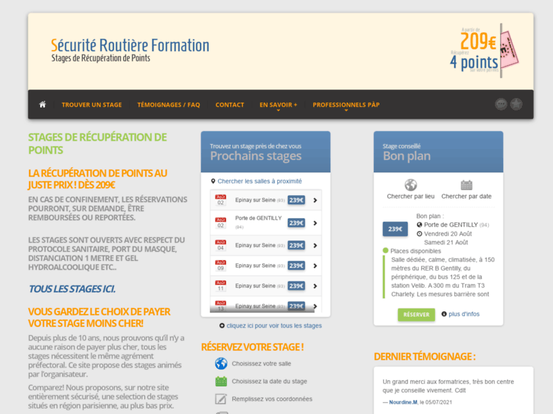 1ère page Google Gentilly : Stage récupération de points