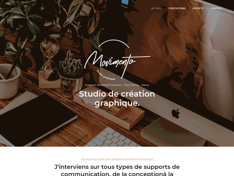 Screenshot du site : Studio Movimento - Graphiste Essonne Paris Saclay