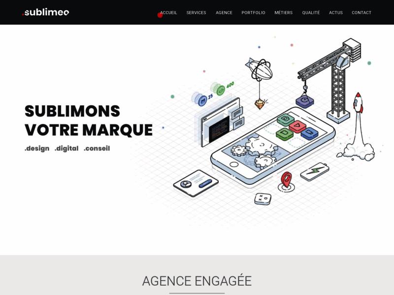 Agence web, design et réalisation de site internet Sublimeo