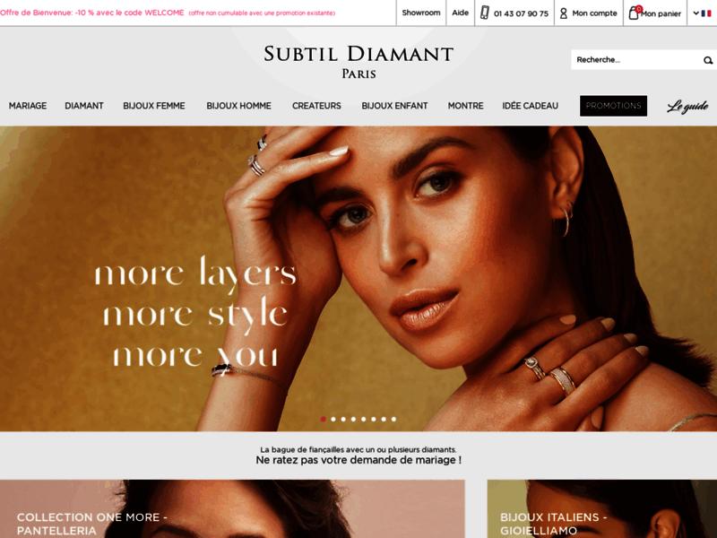 Subtil Diamant : vente de bijoux et diamant