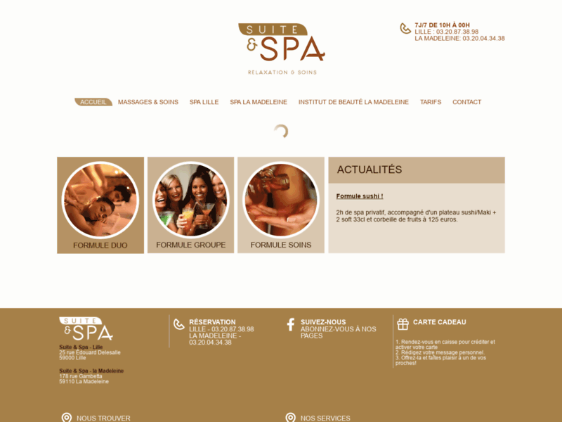 Spa privatif lille