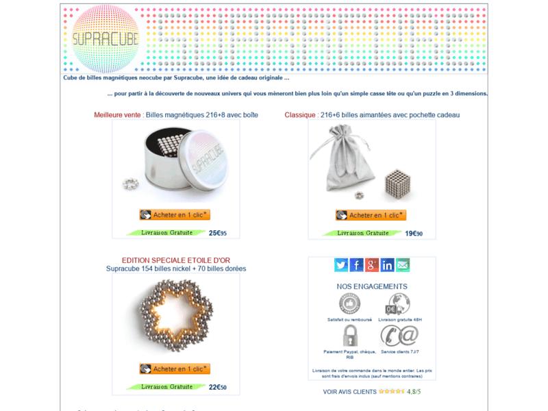 Supracube : Neocube puzzle de billes magnétiques