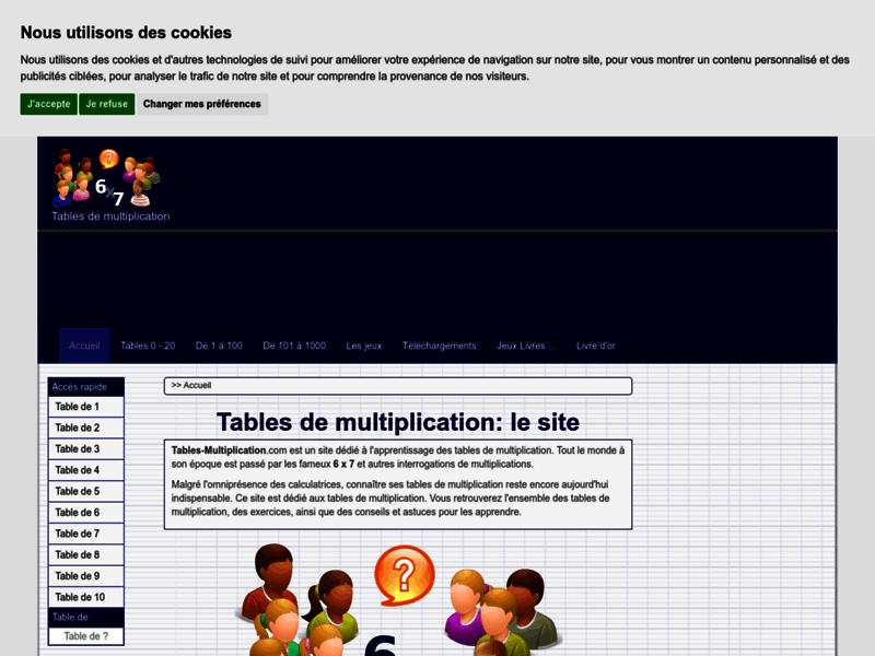 Apprendre les tables de multiplication