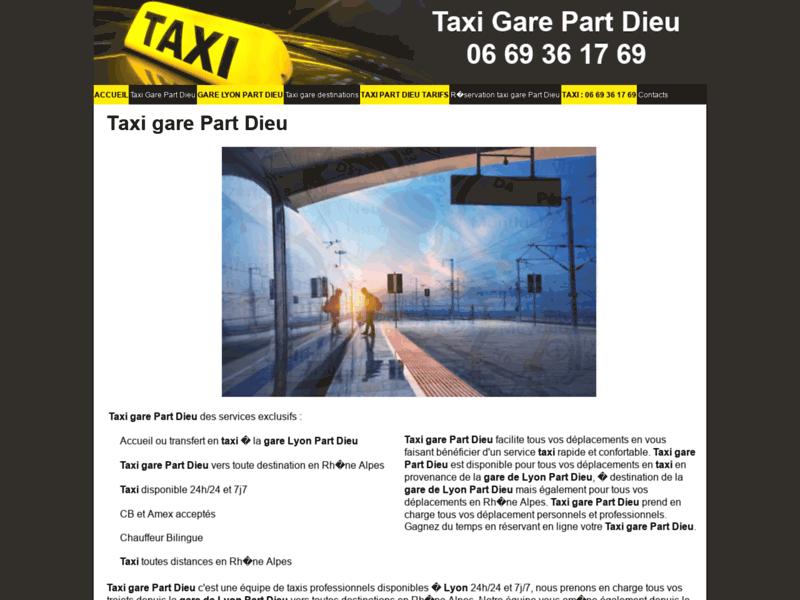 Taxi gare Part Dieu 06 69 36 17 69