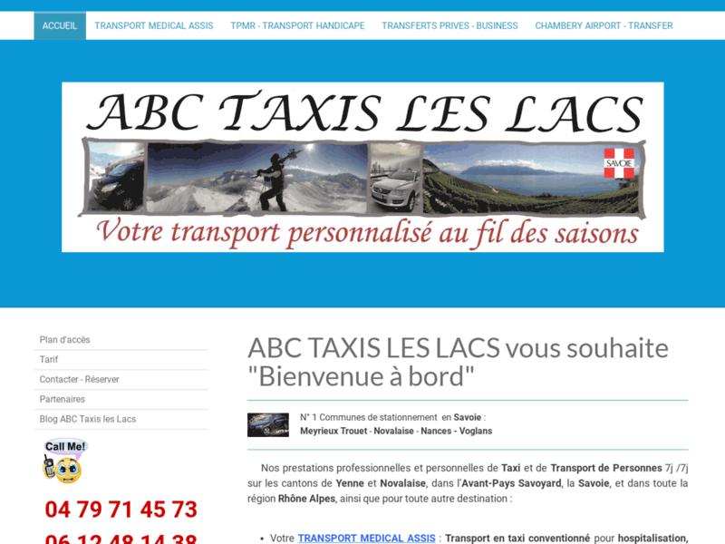 Taxi les Lacs, taxi en Savoie