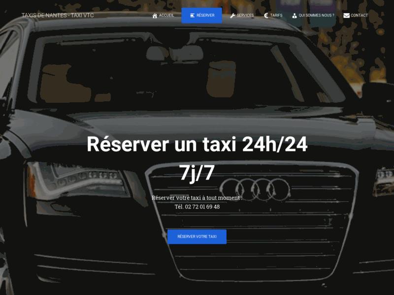 TaxiNantes, voiture de transport avec chauffeur à Nantes