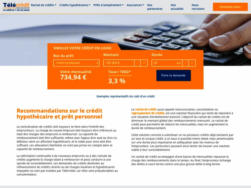 Télécrédit, regroupement de crédits en Belgique