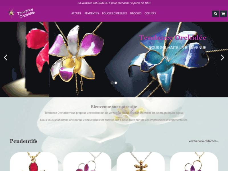 Tendance orchidée bijoux