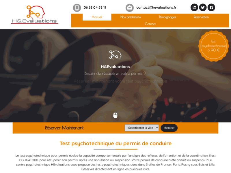 Test psychotechnique permis de conduire Paris