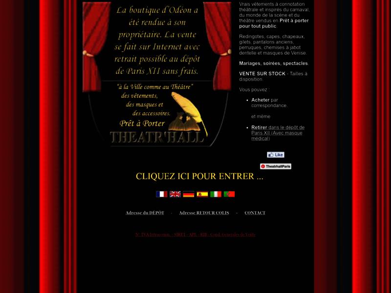 Theatr'Hall Paris : vêtements d'époque, chemise jabot théâtre
