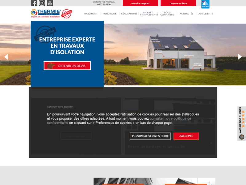 Screenshot du site : Thermie France