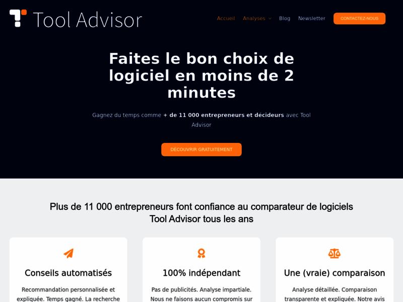 Tool Advisor, comparateur de logiciel d'entreprise
