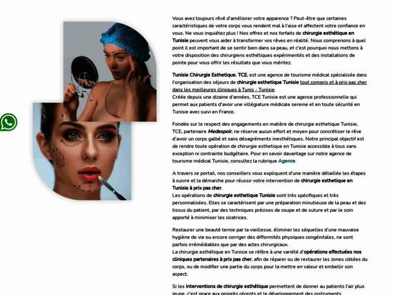 Chirurgie esthétique Tunisie : tarifs interventions et séjour