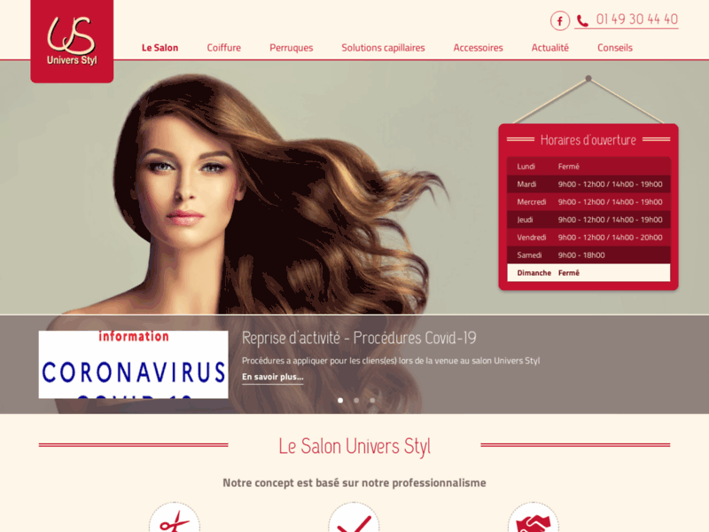 Univers Styl : Coiffeur, Institut capillaire, Perruques