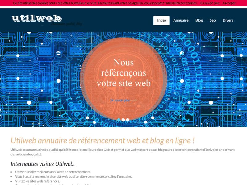 Utilweb, annuaire de référencement et blog en ligne