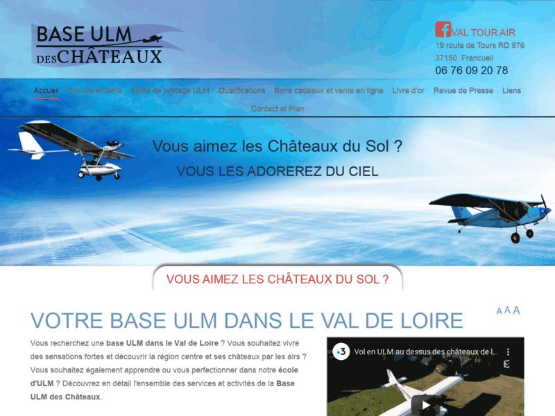 Val Tour Air, école de pilotage et vols touristiques en ULM, Francueil